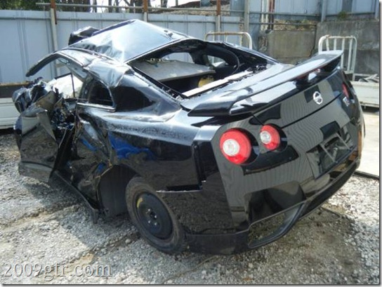 My 2012 Nissan Gt R Was In A Pretty Bad Wreck This Morning